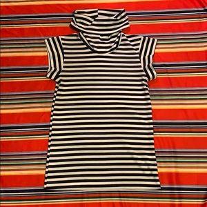 Vintage Striped Turtleneck Shirt - Sz S